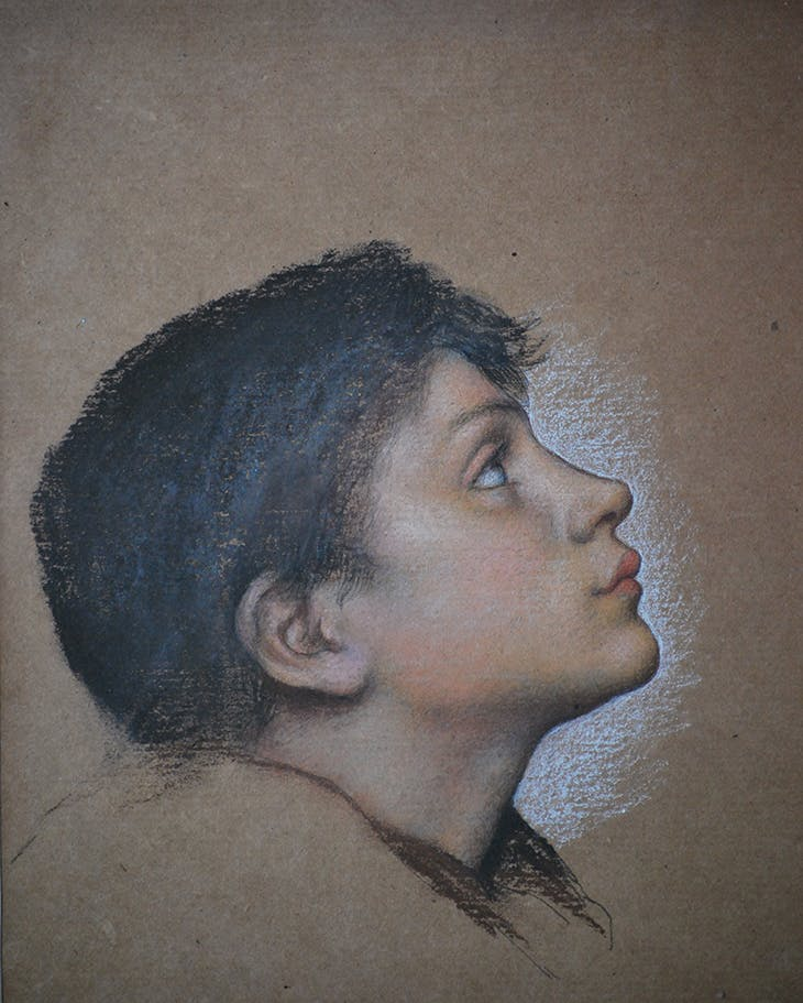 Study of a Boy for Our Lady of Peace (c. 1907), Evelyn De Morgan.