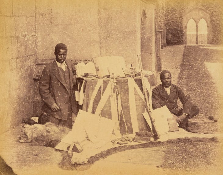 Susi and Chuma at Newstead in 1874, after David Livingstone died.