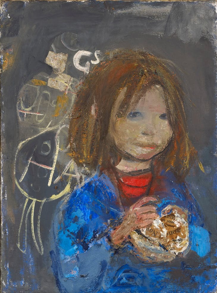 Girl with a Poke of Chips, Joan Eardley. The Scottish Gallery.