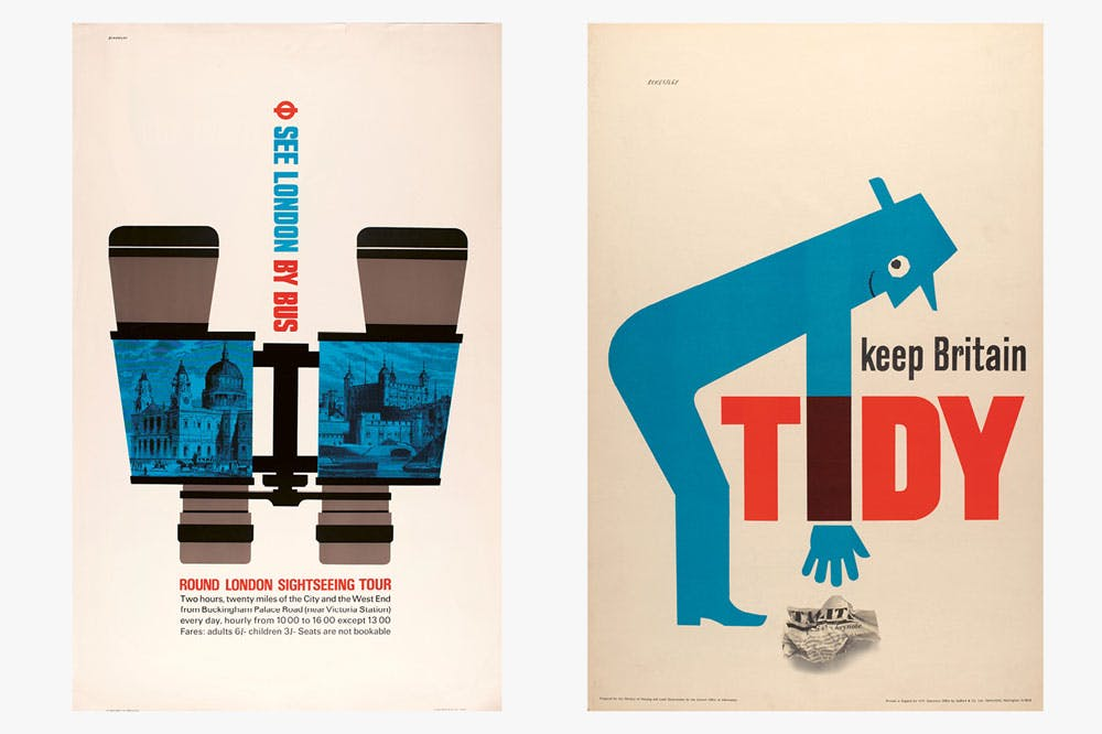 'See London By Bus' (1963) for London Transport and 'Keep Britain Tidy' (1963) for the Central Office of Information.