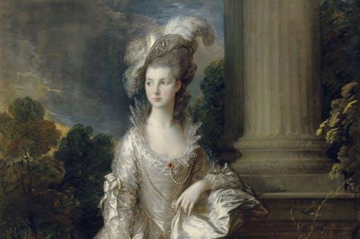 The Hon. Mrs Mary Graham (detail; 1775–77), Thomas Gainsborough.