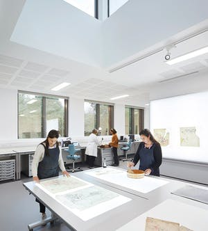 A studio in the new building's conservation wing