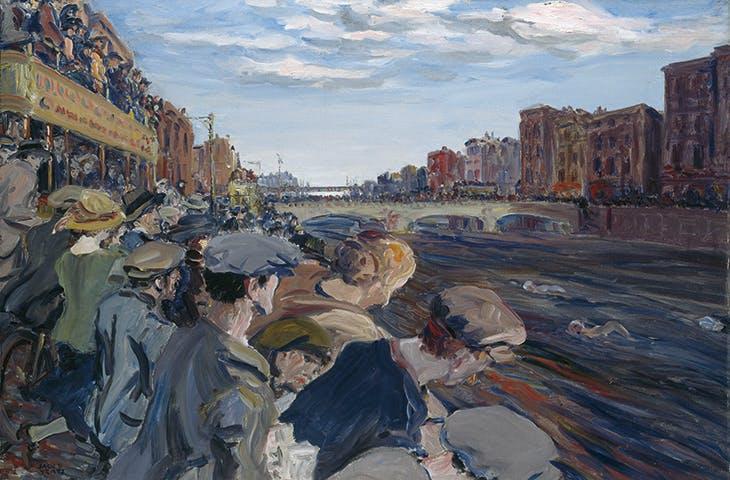The Liffey Swim (1923), Jack B. Yeats. National Gallery of Ireland, Dublin