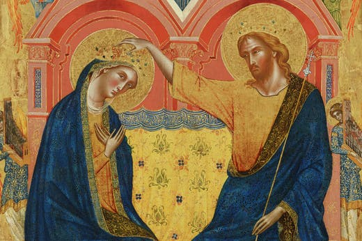 The Coronation of the Virgin (detail; 1358), Paolo Veneziano. The Frick Collection, New York