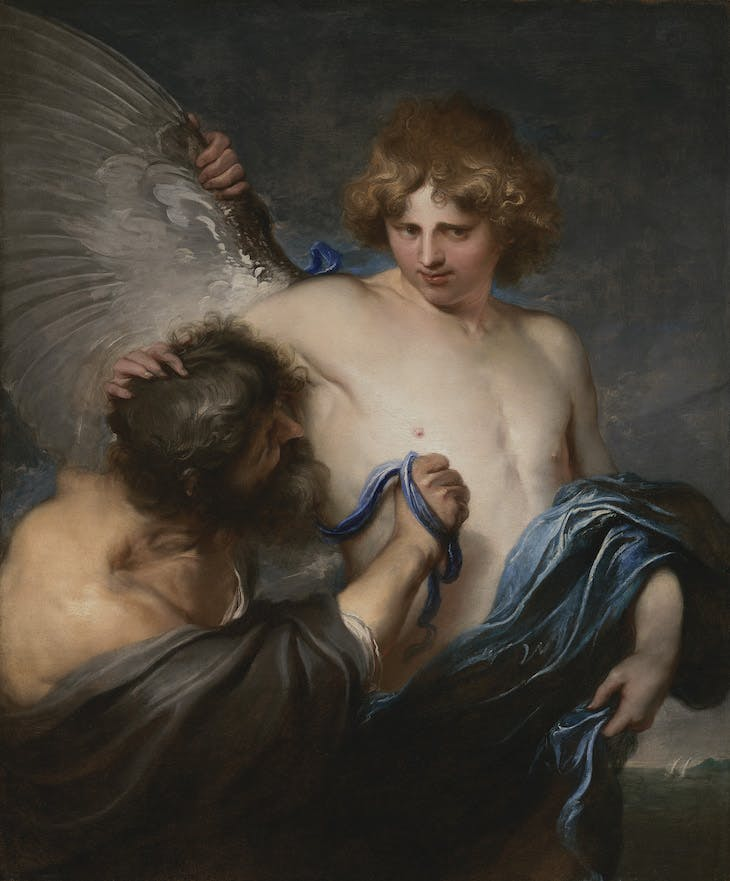 Self-Portrait as Icarus with Daedalus (c. 1618), Anthony van Dyck.