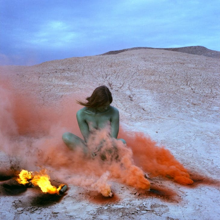 Immolation from the series 'Women and Smoke' (1972), Judy Chicago.