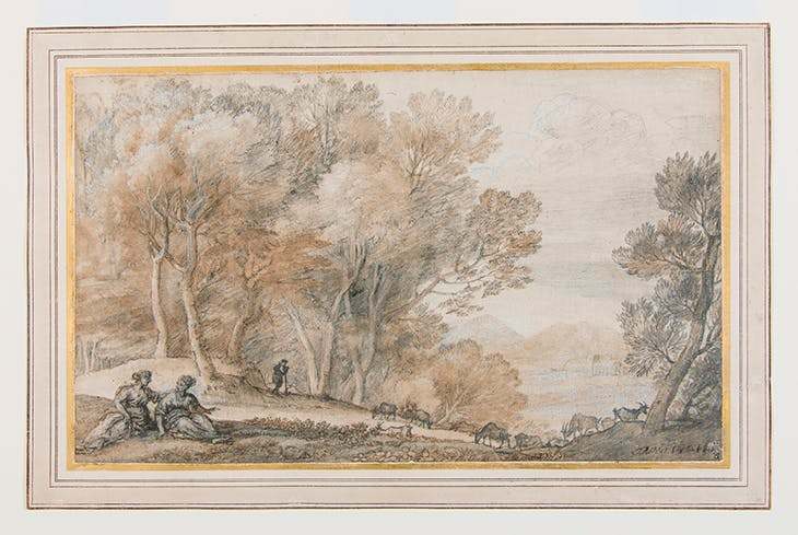 Wooded landscape with Diana and Callisto (c. 1665), Claude Lorrain.