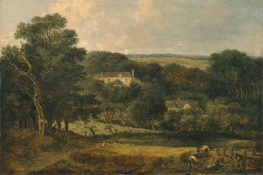 View Near Norwich with Harvesters (detail; 1810–21), John Crome.