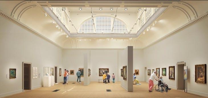 Rendering of the Redeveloped Great Room. Image: Nissen Richards Studio