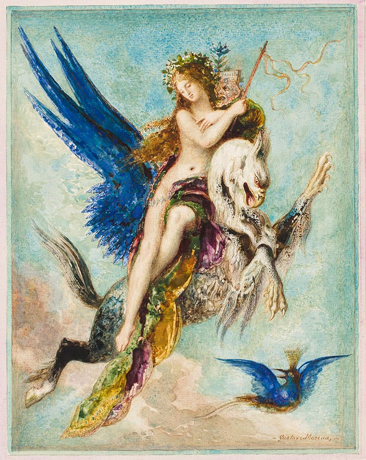 Allegory of Fable (1879), Gustave Moreau.