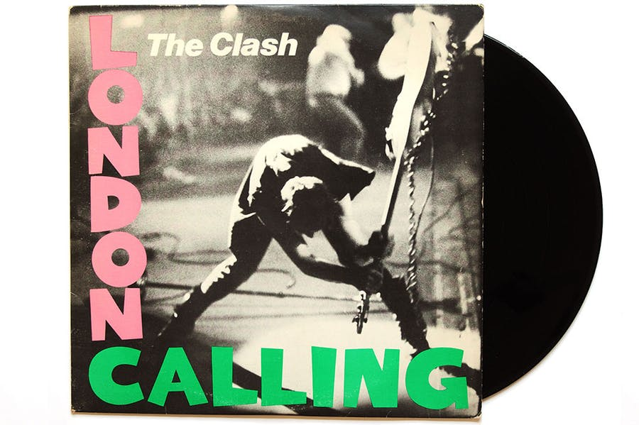 Bass instincts: Pennie Smith's legendary photo of the moment Paul Simonon smashed his guitar on-stage, on the cover of the 'London Calling' album.