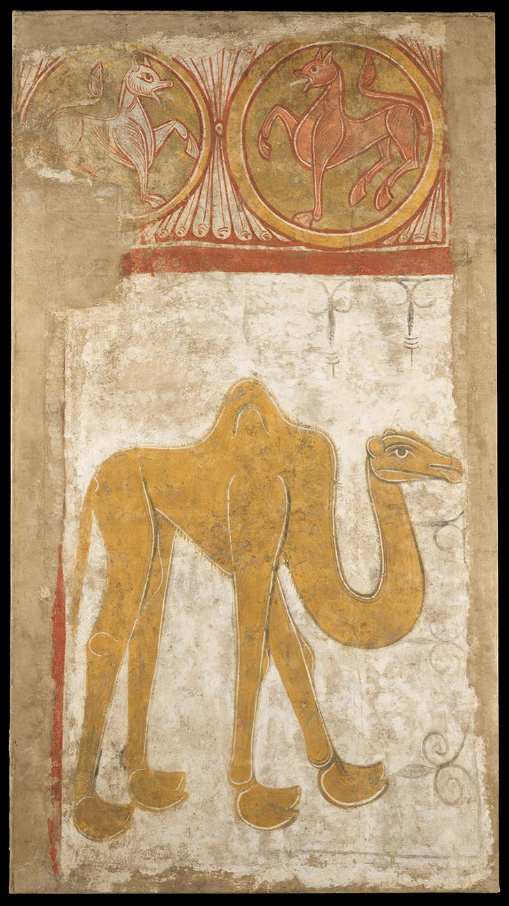 Camel from the Church of San Baudelio de Berlanga (first half 12th century; possibly 1129–34), made in Castile-León, Spain.