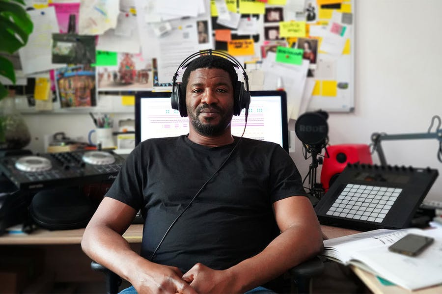 Emeka Ogboh in his Berlin studio – the physical one, anyway.