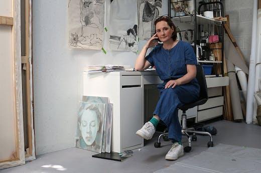 Kaye Donachie in her London studio