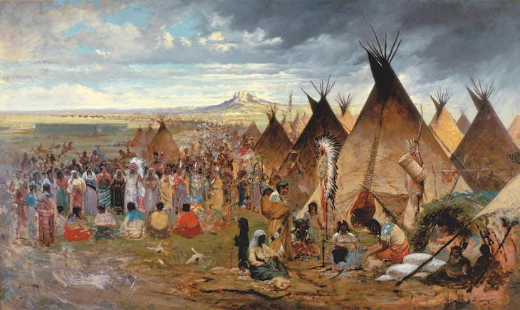 Gathering of the Clans (Lakota Encampment) (c. 1876), Jules Tavernier.