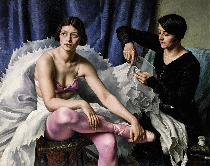 The Ballet Girl and the Dressmaker (1930), Laura Knight.