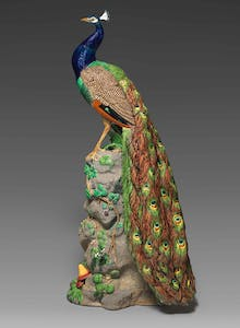 Peacock (shape no. 2045), designed in c. 1875 by Paul Comoléra and manufactured by Minton & Co. The English Collection, Baltimore.
