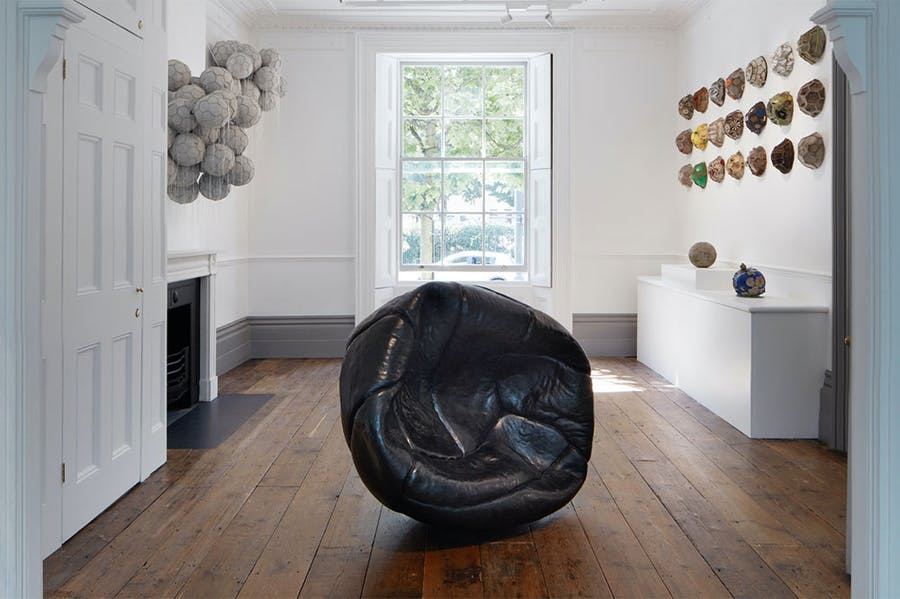 Installation view, 'Balls', OOF Gallery, London, 2021.