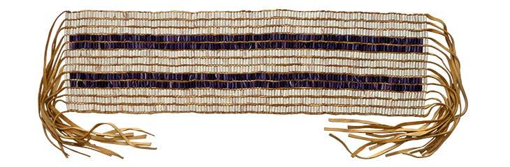 Replica of the Two Way wampum belt, made by Darren Bonaparte of Akwesasne in 2000.