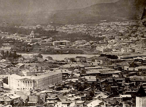 Archive photograph of Tbilisi, showing (bottom left) the building later home to the Shalva Amiranashvili Museum of Fine Arts