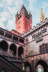 The Rathaus (town hall) in Basel.