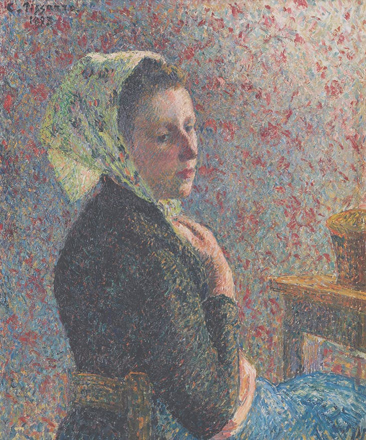 Women with a Green Scarf (1893), Camille Pissarro.