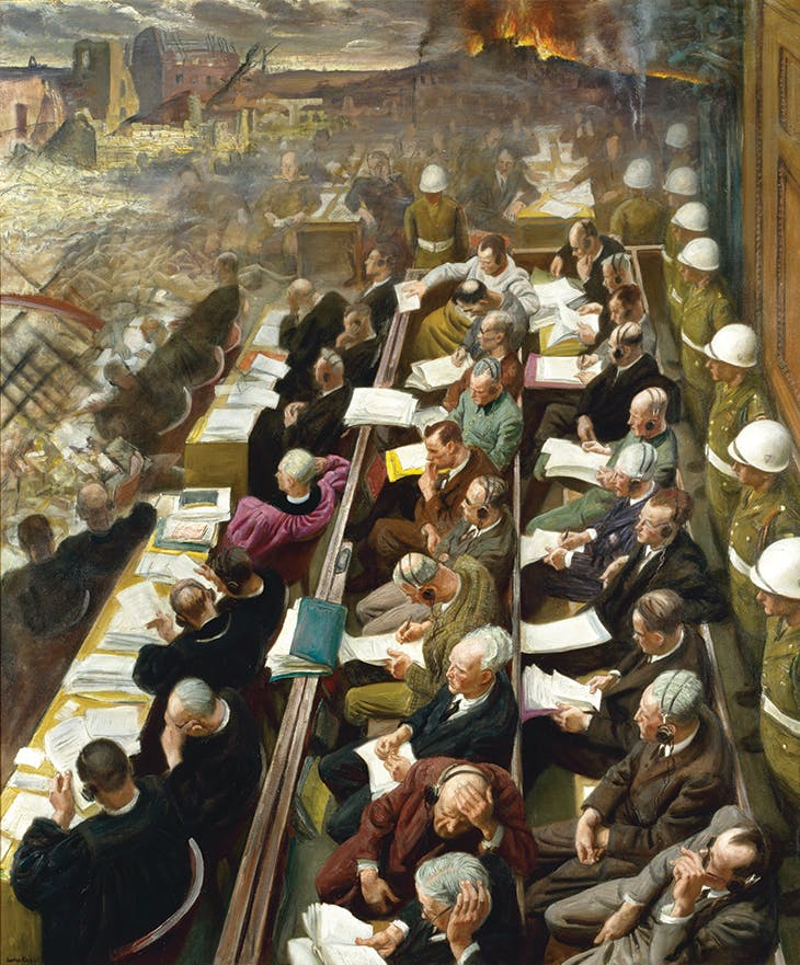 The Nuremberg Trial (1946), Laura Knight. Imperial War Museum, London (on display in the museum's new Second World War Galleries from 20 October 2021)