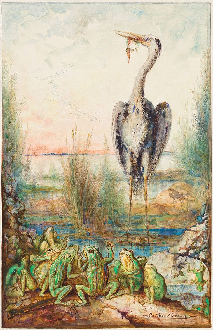 The Frogs who ask for a King (1884), Gustave Moreau.