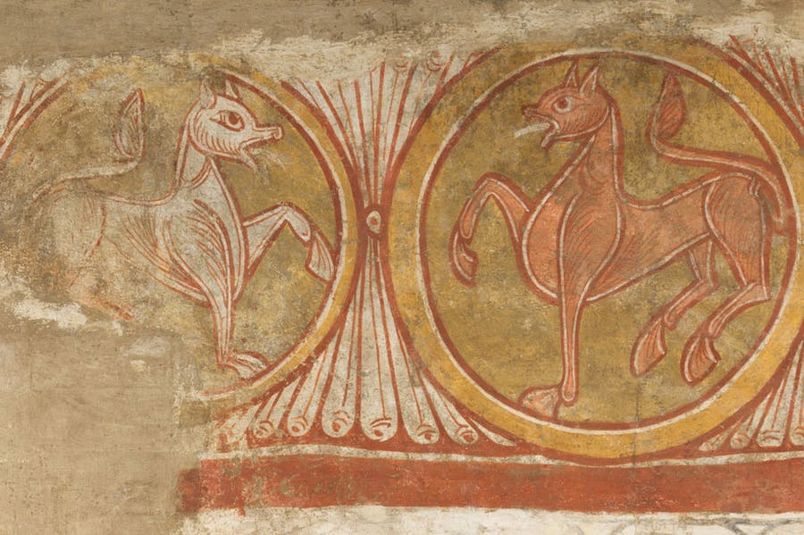 Detail of the camel from the Church of San Baudelio de Berlanga (first half 12th century; possibly 1129–34), made in Castile-León, Spain.
