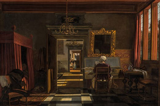 Interior with Woman at a Virginal