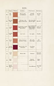 'Red' in Werner's Nomenclature of Colours (1821), Patrick Syme