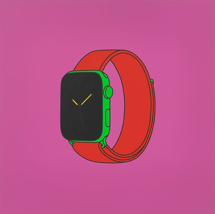 Untitled (with Apple Watch) (2020), Michael Craig-Martin.