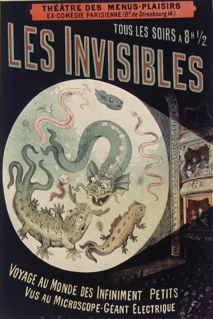Théâtre des Menus-Plaisirs ... tous les soirs à 8h30 Les Invisibles (1883), Emile Levy.
