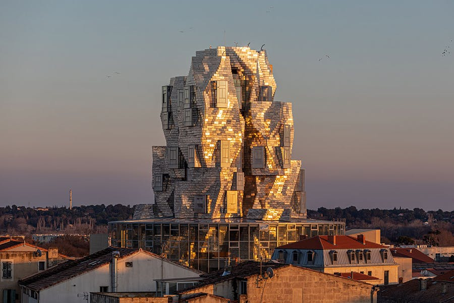 Luma Arles, designed by Frank Gehry, in the Parc des Ateliers, Arles.