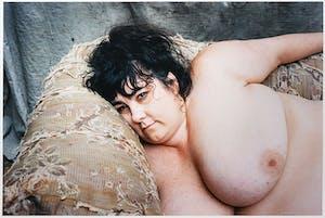 Sue Tilley resting in Lucian Freud's studio (1995), Bruce Bernard.