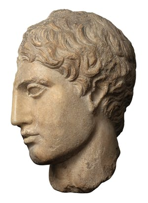 Head of a youth (fragment) (first century), Roman copy of an original attributed to Polykleitos. Kallos Gallery (£120,000)