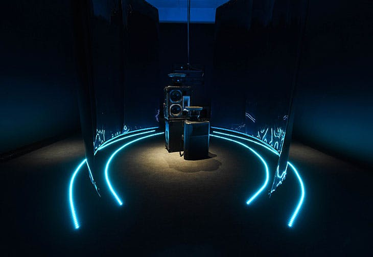 Installation view, Black Obsidian Sound System at the Turner Prize 2021, Herbert Art Gallery and Museum, Coventry.