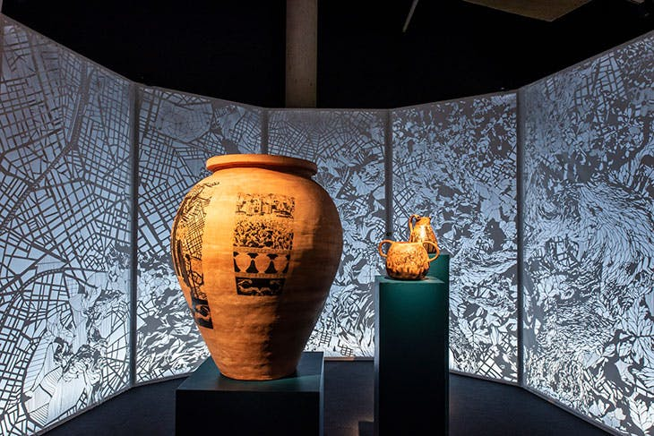 Installation view of 'Drinking with the Gods', La Cité du Vin, Bordeaux, 2021. Photo: Anaka
