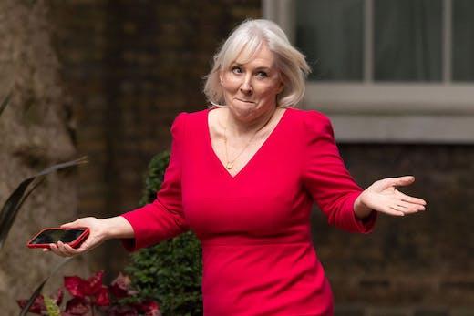 Nadine Dorries at Downing Street on 15 September 2021.