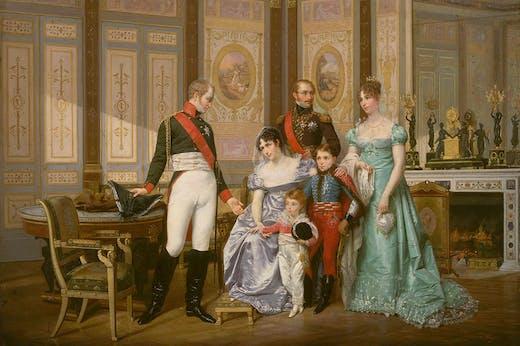 Empress Josephine receives Emperor Alexander I at Malmaison and introduces her children to him (1864), Jean-Louis-Victor Viger du Vigneau. National Museum of the Palaces of Malmaison and Bois-Préau, Rueil-Malmaison