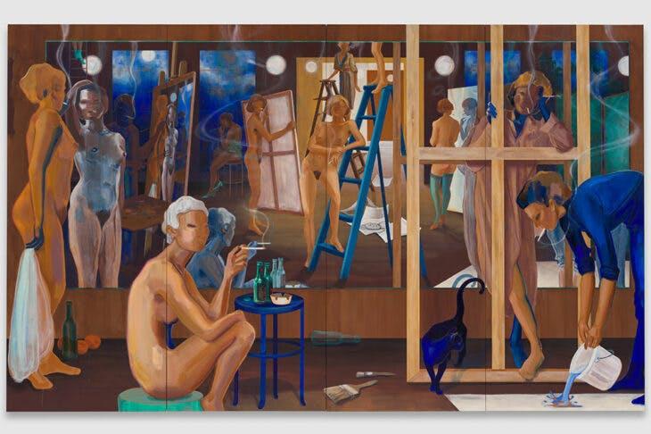 Smoke and Mirrors (2020), Lisa Brice.