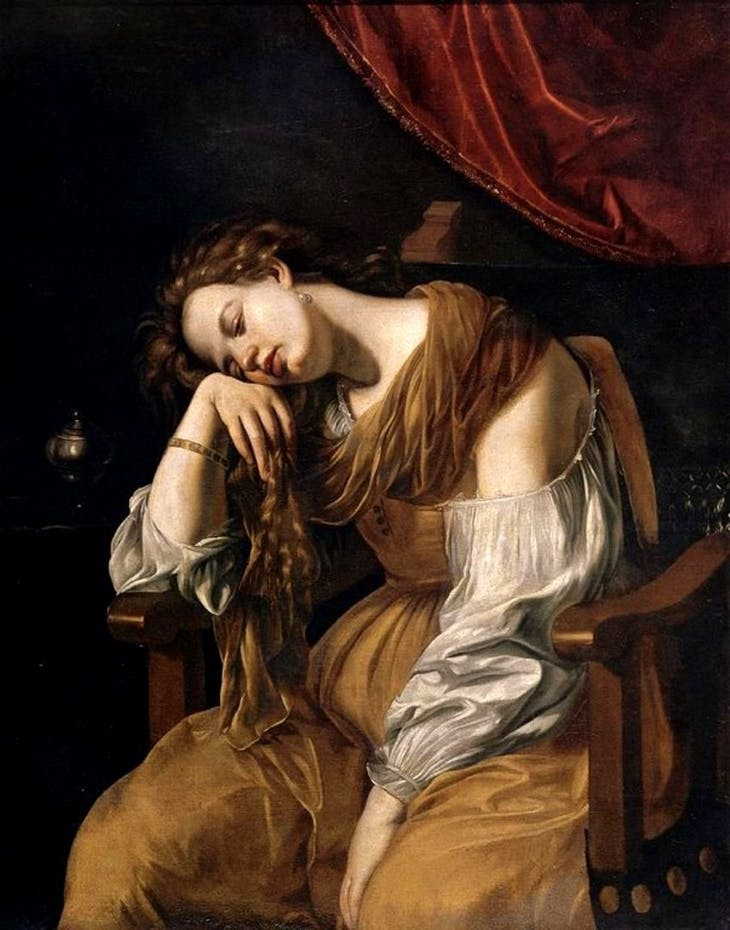 Penitent Mary Magdalene, after Artemisia Gentileschi. Seville Cathedral