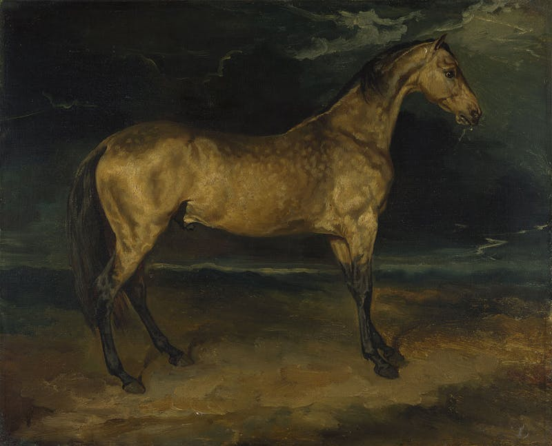 A Horse Frightened by Lightning (c. 1813–14), Jean-Louis-André-Théodore Géricault. National Gallery, London
