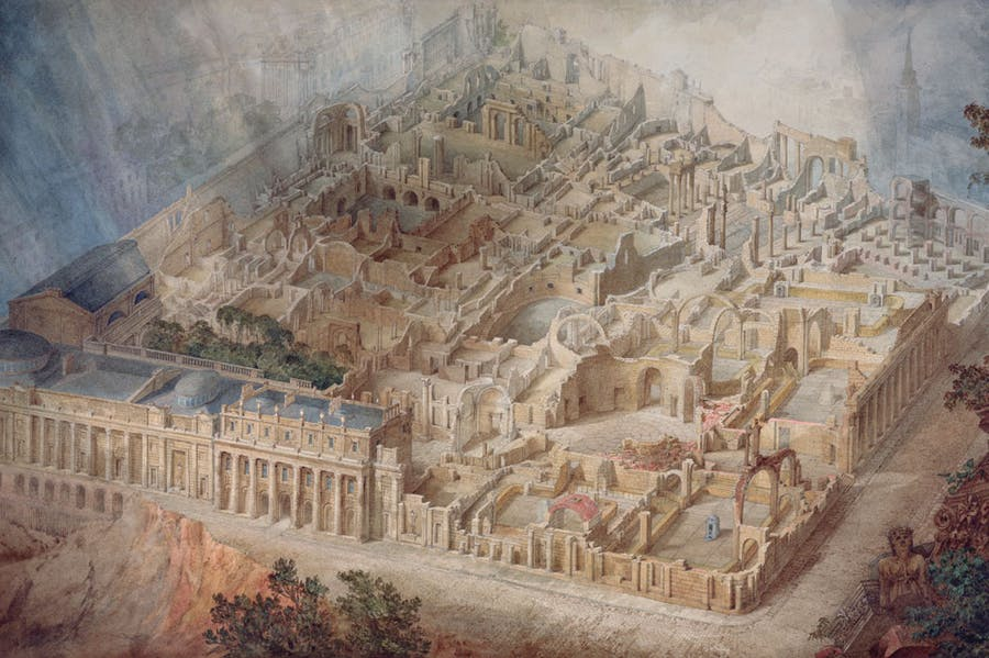 A Bird's-eye view of the Bank of England (1830), Joseph Gandy. Sir John Soane's Museum, London