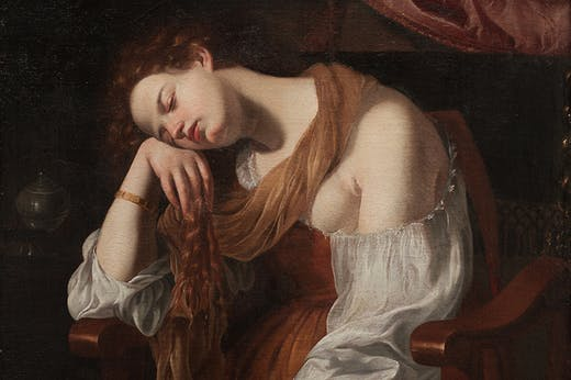 Penitent Mary Magdalene (c. 1625–26), Artemisia Gentileschi. Private collection