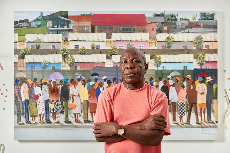 Sam Nhlengethwa. Courtesy Goodman Gallery