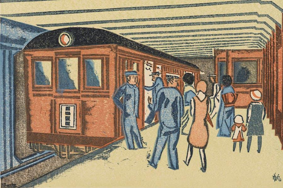 Subway, from the series One Hundred New Views of Tokyo (1931), Senpan Maekawa.
