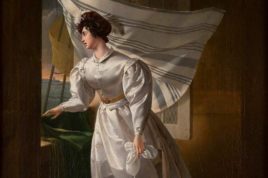 Marie-Caroline, Duchesse de Berry sailing to exile in Scotland (c. 1830), unknown artist. Musée des Arts Decoratifs, Bordeaux.