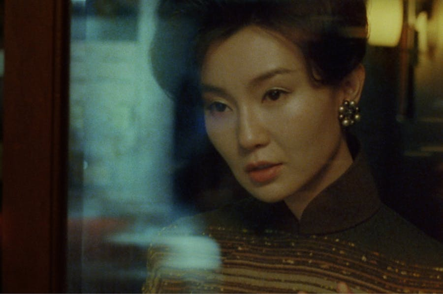 Maggie Cheng in never-before-seen-footage from Wong Kar-Wai's 'In the Mood for Love' (2000).