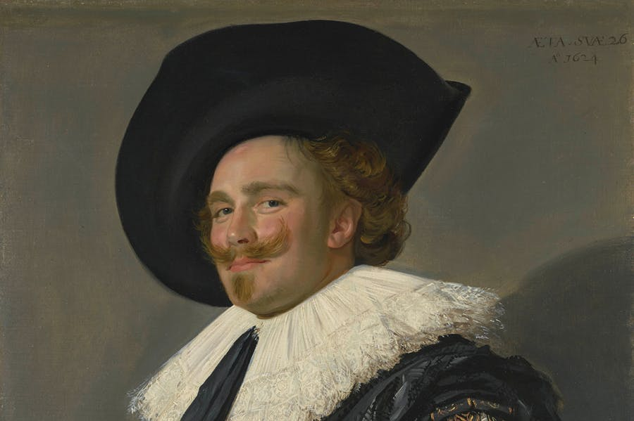 The Laughing Cavalier (detail; 1623), Frans Hals.